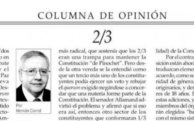 Columna de Hernán Corral Talciani titulada «2/3»